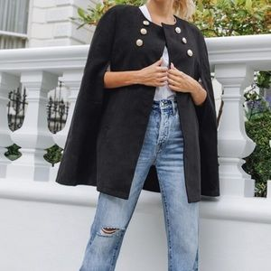Jackets & Blazers - Black cape coat